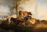 Cattle Scene, 1876 by Thomas Cooper - print