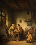 Belgian School, 1853 by Fredinand de Braekeleer - print
