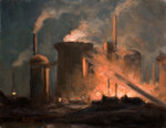 Blast Furnaces, Night by Edwin Butler Bayliss - print