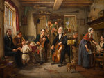 A Philharmonic Rehearsal in a Farm, 1860 by Evan Hodgson - print