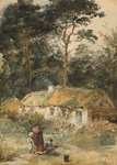 The Home of the Faeds, Late 19th century by Thomas Faed - print