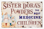 Sister Dora's Powders enamel sign by Unknown - print