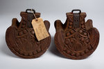 Antique Mexican carved wooden stirrups by Unknown - print