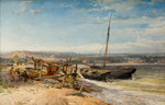 Estuary Scene, 1866 by John Syer - print