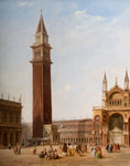 St Mark's Square, Venice, 1840 by David Roberts - print