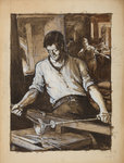 Glassmaker, 1868 - 1924 by Richard Samuel Chattock - print