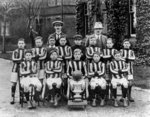 Football Team, Cottage Homes, Wednesfield, 1921 - 1922 by unknown - print