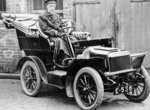 An early car used by Staffordshire County Council, 1920's by unknown - print