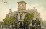 Bilston Town Hall, circa 1910 by Unknown - print