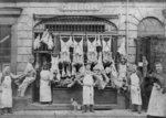 R. Gibson, Butchers Shop, Bilston, circa 1890s by unknown - print