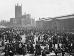 Market Place, Wolverhampton, 1900 by unknown - print