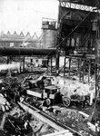 Foundation of open-mouth furnace, Bilston Steelworks, Bilston, 1906 by unknown - print
