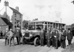 Guy Motor Bus and Group, Shipley, Early 20th century by Unknown - print