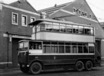 Trolleybus, Cleveland Road Bus Depot, Wolverhampton, 1920s by Unknown - print