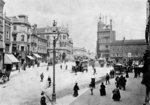 Queen Square, Wolverhampton, 1895 by unknown - print