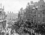Visit of the Duke & Duchess of York, Lichfield Street, Wolverhampton, circa 1900 by unknown - print