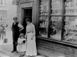 Barnsley's Tobacconist Shop, Cross Street, Bradley, circa 1912 by unknown - print