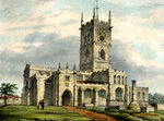 St. Peter's Collegiate Church, Wolverhampton, 19th century by unknown - print
