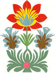 Traditional Cut Paper: Flower Design by unknown - print