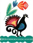 Traditional Cut Paper: Bird Design, 1960 - 1980 by unknown - print