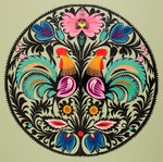 Traditional Cut Paper: Bird Design by unknown - print