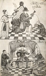Pattern Book: Traditional Worship scene, 1688 by Unknown - print