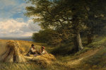 The Harvesters, 1881 by William Linnell - print