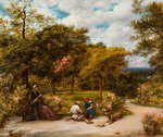 My Garden at Redhill, 1859 by Edward Bird - print