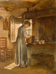 Cottage Interior, Mid 19th century by Unknown - print
