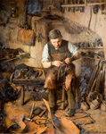The Village Cobbler (Codsall), 1885 by Thomas Hill - print