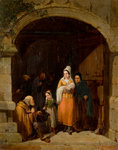 Leaving a Church, Bretany, 1840 by Frederick Goodall - print
