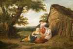 Landscape with Three Figures, Early 19th Century Poster Art Print by English School