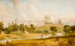 Windsor Castle, 1815 - 1870 by Charles Towne - print