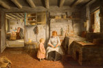 Preparing for Dinner, 1854 by Benjamin Williams Leader - print
