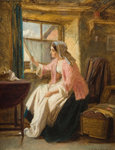 Expectation, 1872 by George Augustus Freezor - print