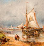 Fishing Boats in an Estuary, Early 20th Century by William Joseph Julius Ceasar Bond - print