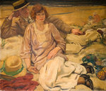 The Holiday Makers, Early 20th Century by Mabel Frances Layng - print