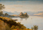Albanian Mountains with Corfu in Distance, 19th century by Linton - print
