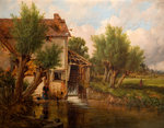 An Old Mill Near Worcester, 1880 by Benjamin Williams Leader - print
