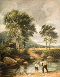 On the Lledr, 1852 by David Cox - print