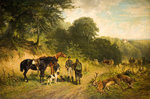 A Good Day, 1875 by Friedrich Johann Voltz - print