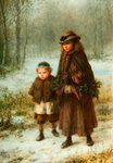 A Winters Morning Walk, 1864 by George Henry Boughton - print