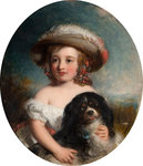 Love Me, Love My Dog, 1853 by Charles Baxter - print