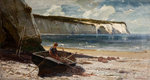 Coast Scene, Late 19th century by Alfred Montague - print