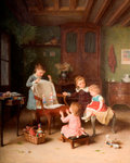 The Happy Family, 1845 - 1906 by Hendrick Ringeliing - print