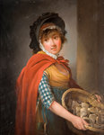 Oyster Girl, Early 19th Century by Edward Bird - print