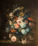Vase of Flowers, Early 18th century by Pieter Hardime - print