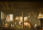 Milking in Winter, Early 18th century by Jan van Goole - print