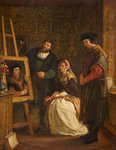 Holbein's Studio, 1861 by Jan Van Gool - print