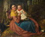 The Artist's Son and Nurse, 1863 by Frederick Richard Pickersgill - print